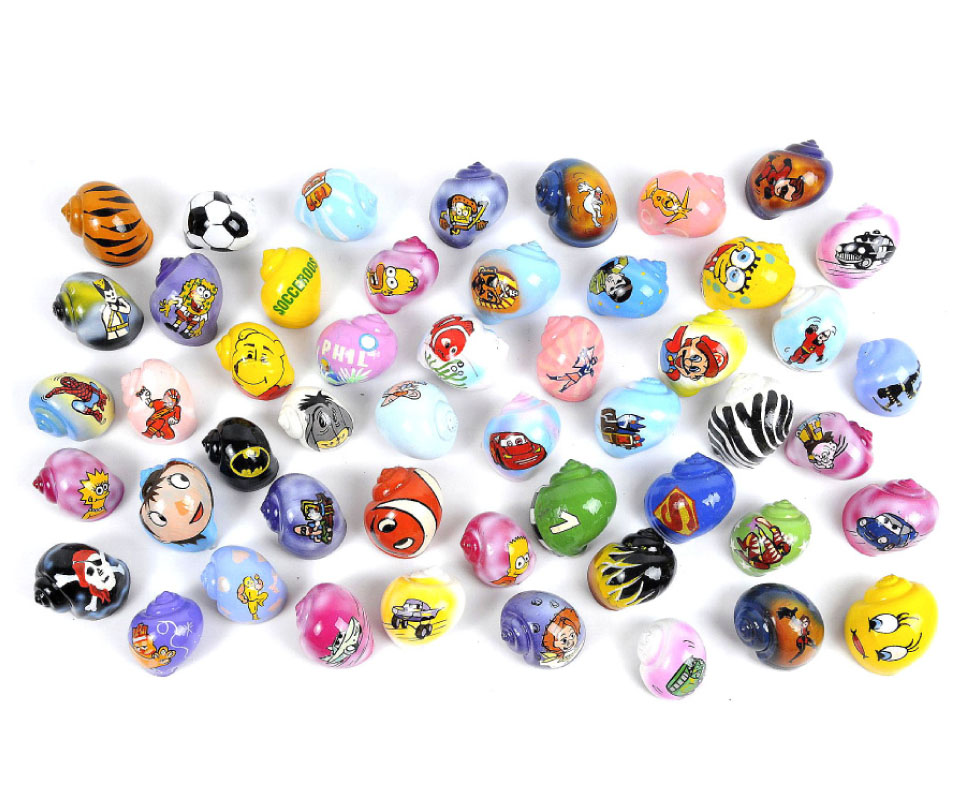 Assorted Painted Play Shells Bag of 25